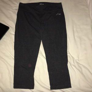 Cropped grey workout leggings